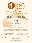 Ballechin                                     im Malt-Whisky Shop of Chur